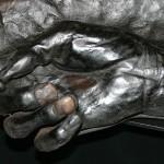 Preserved bog body hand from Denmark